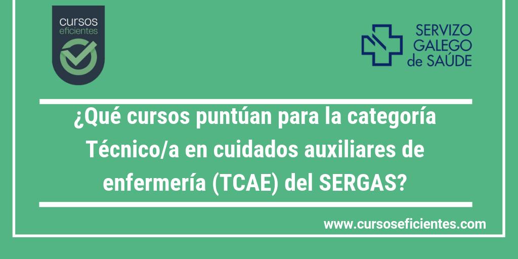 44 Que Cursos Puntuan Para La Categoria Tecnico A En Cuidados Auxiliares De Enfermaria Tcae Del Servicio Gallego De Salud